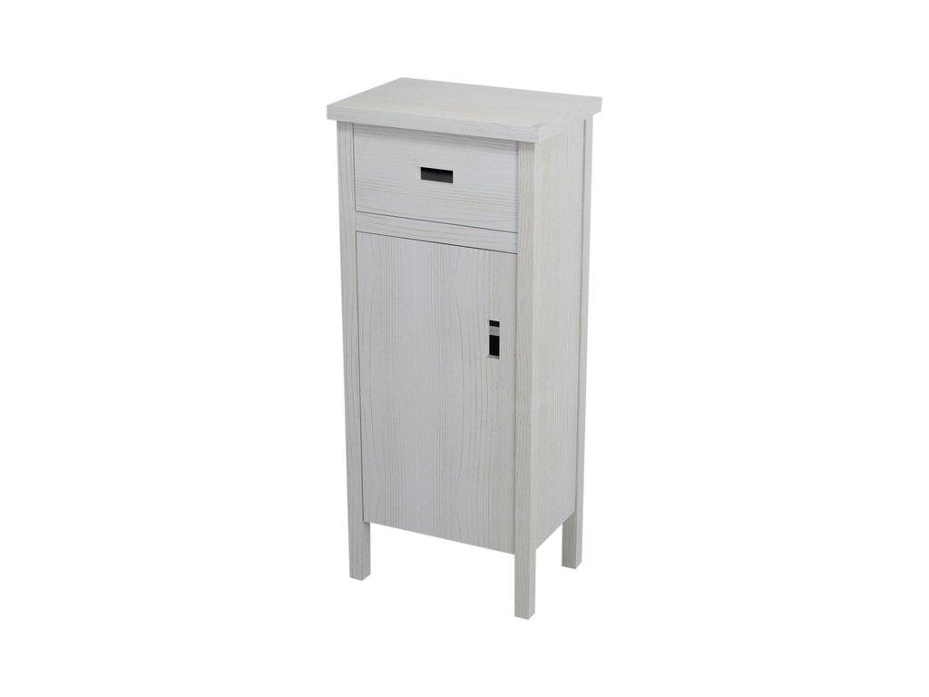 BRAND skříňka nízká 48x110x33cm, levá, starobílá   (BA012)