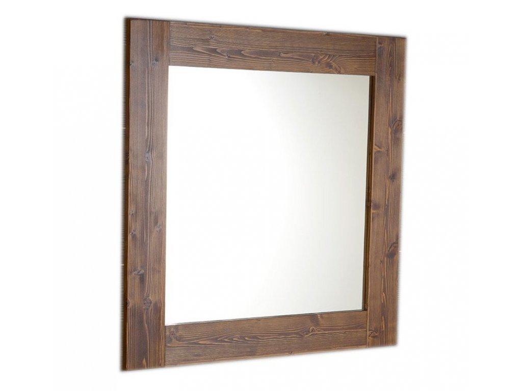 BRAND zrcadlo 80x80x2cm, mořený smrk BA051
