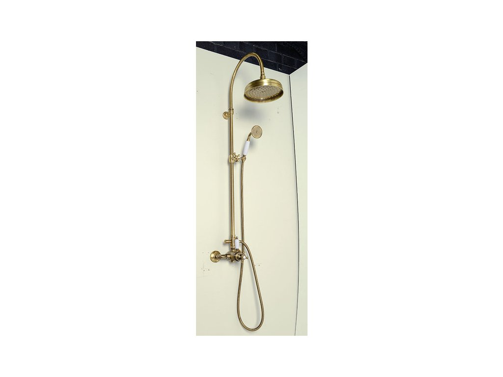 ANTEA sprchový sloup s termostatickou baterií, bronz  SET046