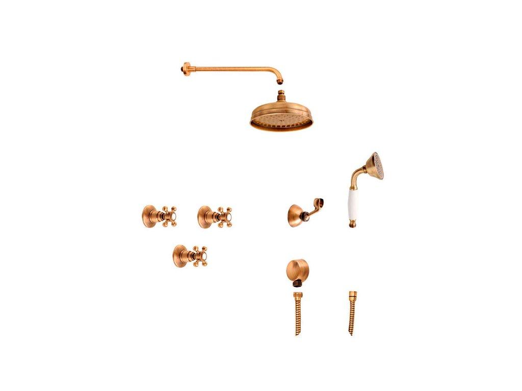 ANTEA podomítkový sprchový set, 2 výstupy, bronz 3056SET01