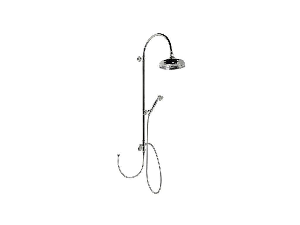 VANITY sprchový sloup s připojením vody na baterii, retro, chrom   (SET061)
