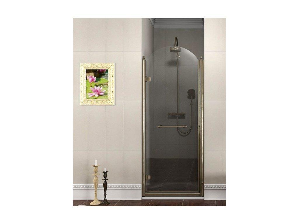 ANTIQUE sprchové dveře otočné, 900mm, levé, ČIRÉ sklo, bronz GQ1290LC