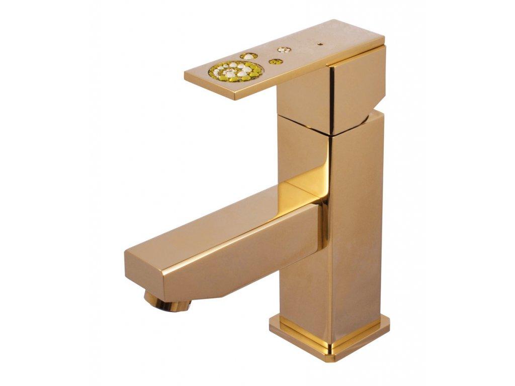Rav Royal umyvadlová baterie s výpustí click-clack zlato ROYAL1027.0Z