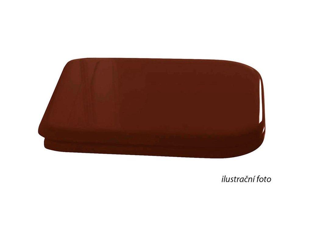 WALDORF WC sedátko Soft Close, dřevo masiv, ořech/bronz 418640
