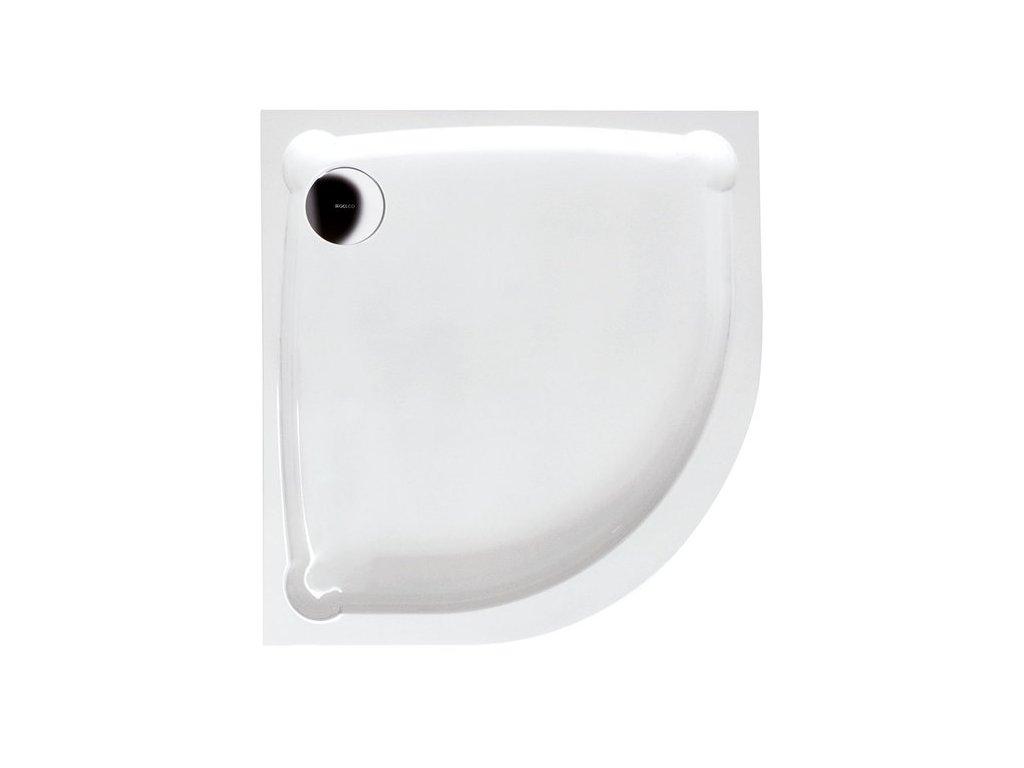 HERA90 sprchová vanička z litého mramoru, čtvrtkruh, 90x90x7,5cm, R550 GH559