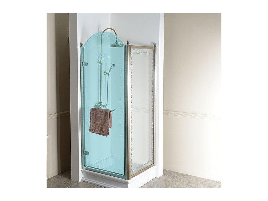 ANTIQUE boční stěna 1000mm, ČIRÉ sklo, bronz GQ5610C