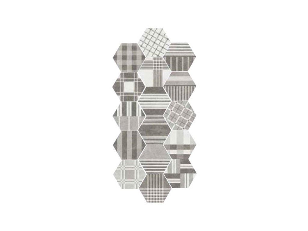 HEXATILE CEMENT Geo Grey17,5x20 (EQ-21)   (22101)