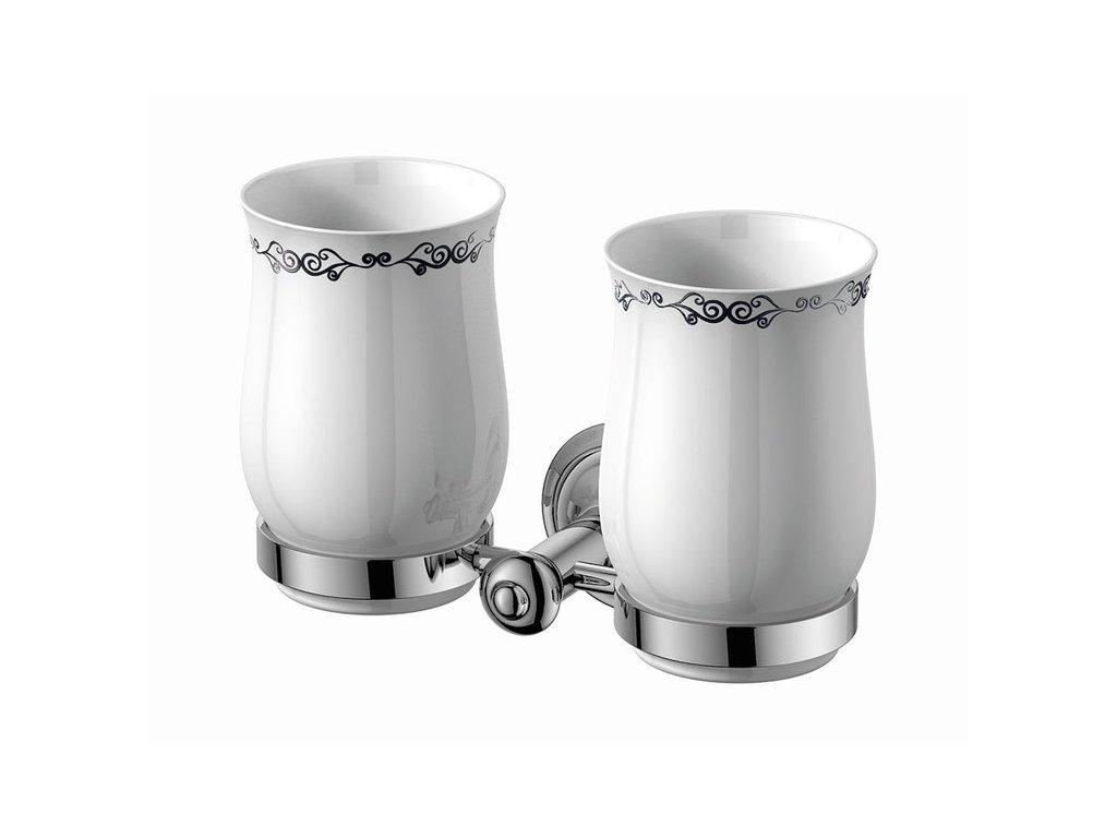 ASTOR dvojitý držák skleniček, chrom 1325-05