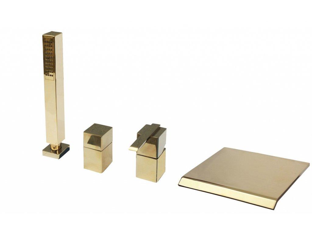 Rav Loira baterie vanová stojánková čtyřotvorová zlato LR174.0PZ