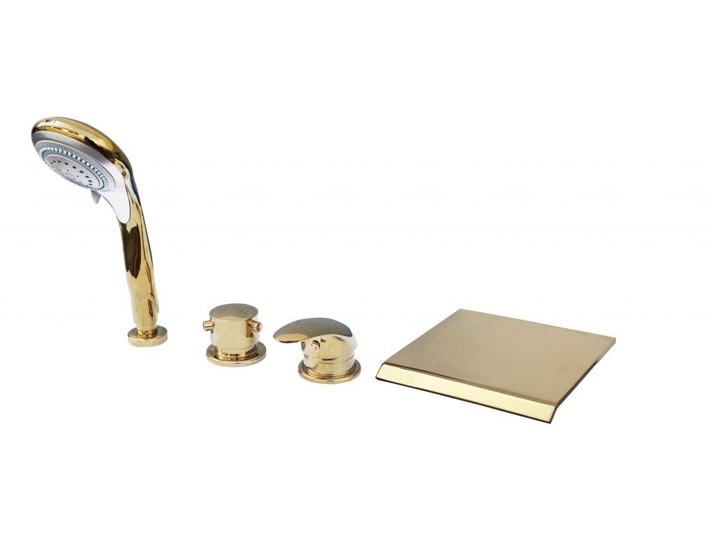 Rav baterie vanová stojánková čtyřotvorová zlato D474.5PZ