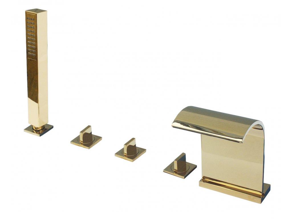 Rav Amazon baterie vanová stojánková pětiotvorová zlato A167.5PZ