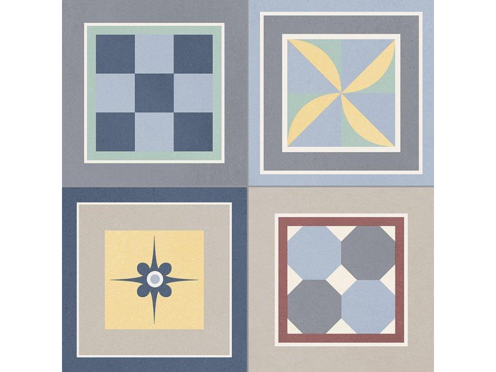 GRENIER Mix 33,15x33,15, mix barev, GRI004