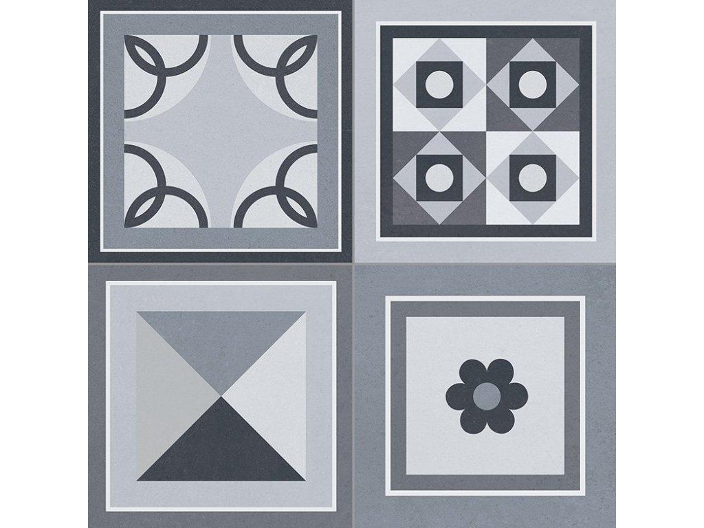 GRENIER Black 33,15x33,15, mix barev, GRI006