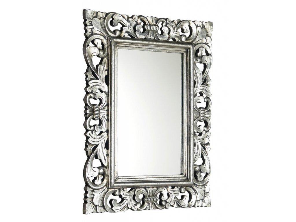 SAMBLUNG zrcadlo v rámu, 60x80cm, stříbrná IN115