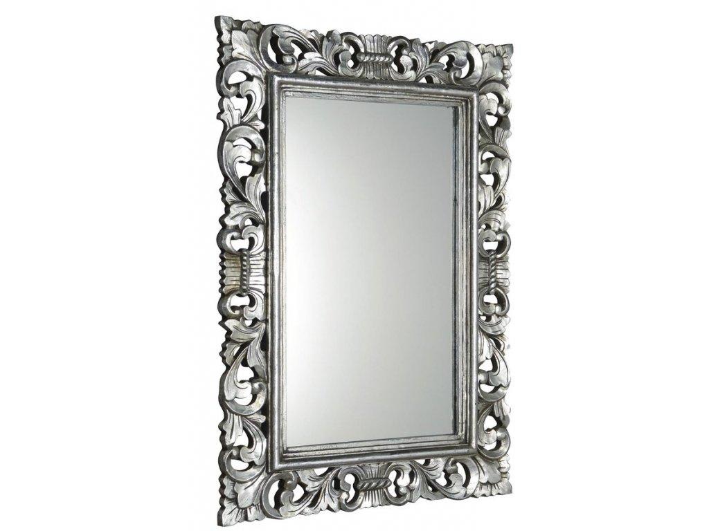 SCULE zrcadlo v rámu, 100x70cm, stříbrná IN156