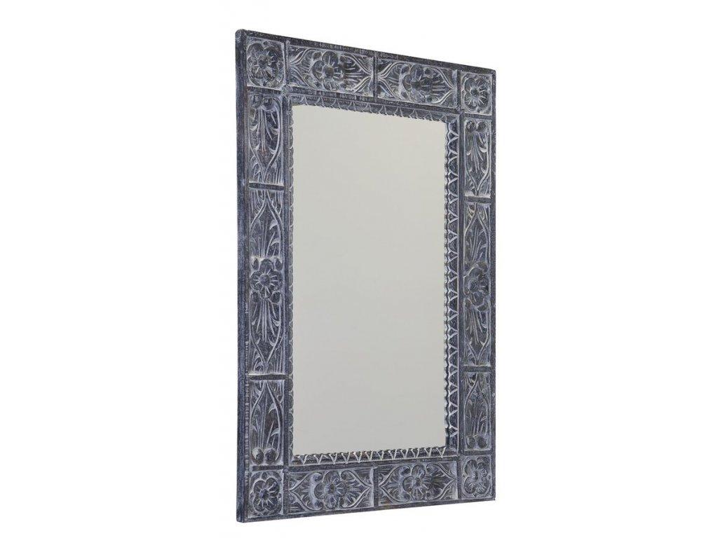 UBUD zrcadlo v rámu, 100x70cm, šedá IN231
