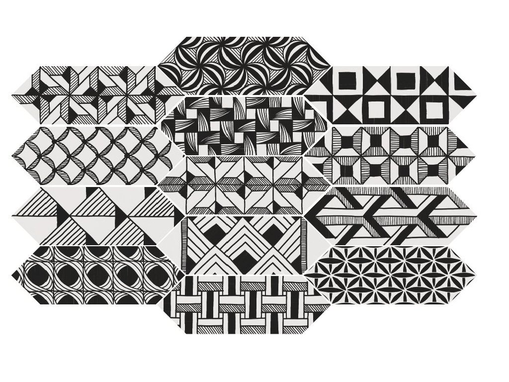 KITE Patchwork Kite B&W 10x30 (EQ-10D) 22997