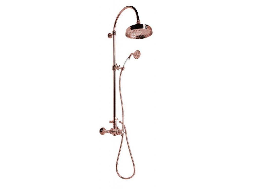ANTEA sprchový sloup s termostatickou baterií, růžové zlato SET047