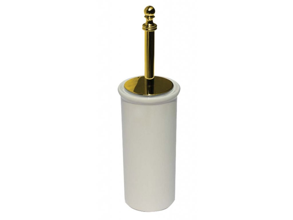 PERLA WC štětka na postavení, keramika, zlato PE1205