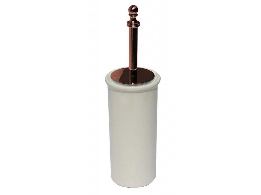 PERLA WC štětka na postavení, keramika, růžové zlato PE1207