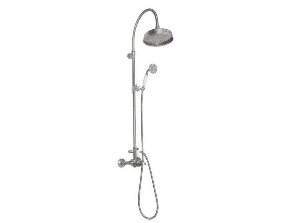 ANTEA sprchový sloup s termostatickou baterií, nikl SET048