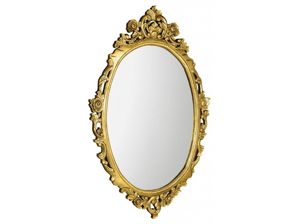 DESNA oválné zrcadlo v rámu, 80x100cm, zlatá IN352
