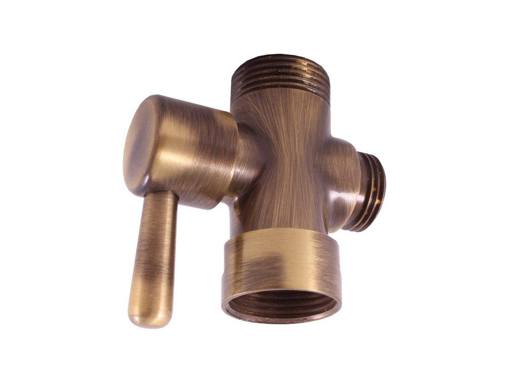 Rav keramický přepínač ke sprchovým tyčím - stará mosaz MD0629SM