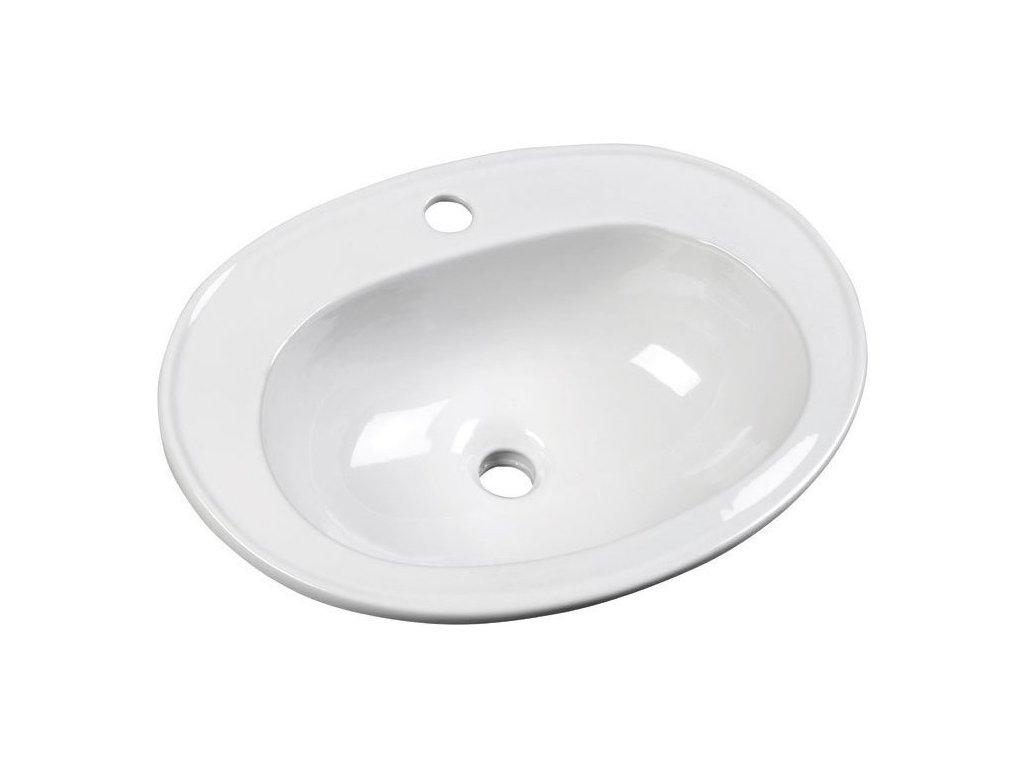 SARA keramické umyvadlo 54x41 cm, zápustné FS1630