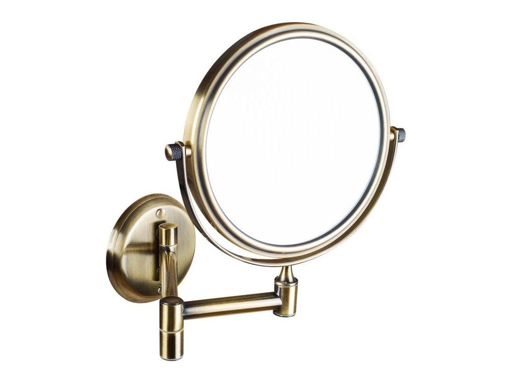 Kosmetické zrcátko zvětšovací, oboustranné, bronz XP012