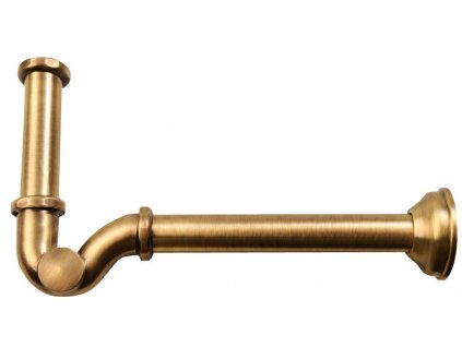 "Bidetový sifon 1""1/4, odpad 32mm, bronz"
