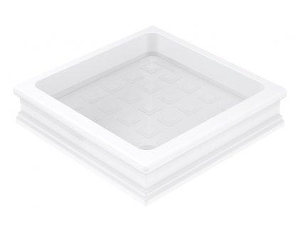 Keramická sprchová vanička, čtverec 90x90x20cm