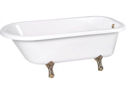 Volně stojící vana 170x75x47cm, nohy bílé, bílá