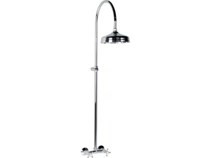 ANTEA sprchový sloup k napojení na baterii, hlavová sprcha, chrom SET011