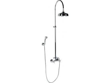 ANTEA sprchový sloup k napojení na baterii, hlavová a ruční sprcha, chrom SET021