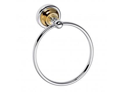 Bemeta Retro kruh na ručníky gold/chrom 144204068