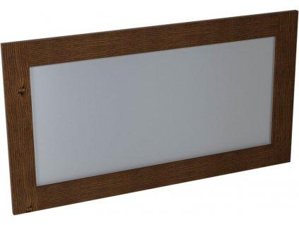 BRAND zrcadlo 130x70x2cm, mořený smrk BA061