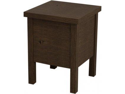 BRAND stolička s úložným prostorem 35x46x35cm, mořený smrk BA121