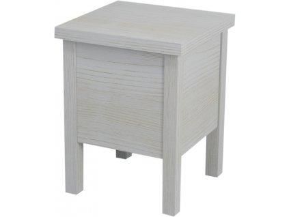 BRAND stolička s úložným prostorem 35x46x35cm, starobílá BA122