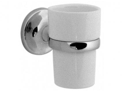 VADO TOURNAMENT keramický pohárek a držák na zeď chrom TOU-183A-C/P