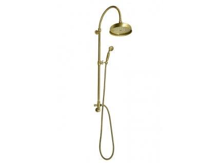 VANITY sprchový sloup s připojením vody ze zdi, retro, bronz   (SET056)