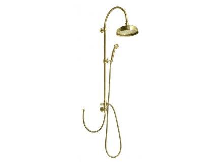 VANITY sprchový sloup s připojením vody na baterii, retro, bronz   (SET066)