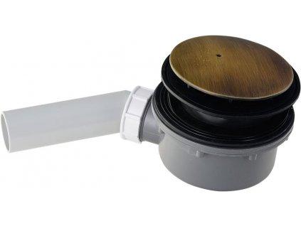 RETRO vaničkový sifon, průměr otvoru 90 mm, krytka bronz 905693