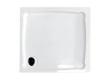 DIONA90 sprchová vanička z litého mramoru, čtverec 90x90x7,5cm   (GD009)
