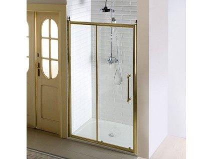 ANTIQUE sprchové dveře, posuvné,1400mm, ČIRÉ sklo, bronz GQ4214C