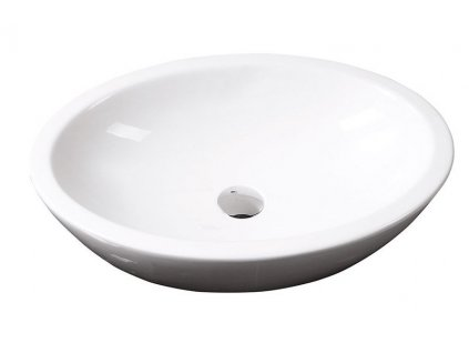 SISTEMA keramické umyvadlo oválné bez přepadu 60x42cm, bílá 10AR65060V