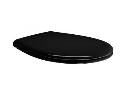CLASSIC WC sedátko soft close, černá/chrom MSC87CN20