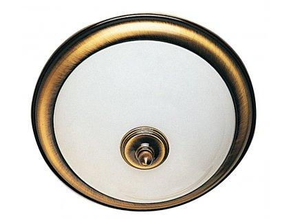 GLOSTER stropní osvětlení E14, 2x60W, bronz AU514