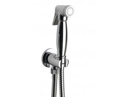 Bidetová sprcha retro, s hadicí a držákem sprchy s vyústěním, chrom 9101