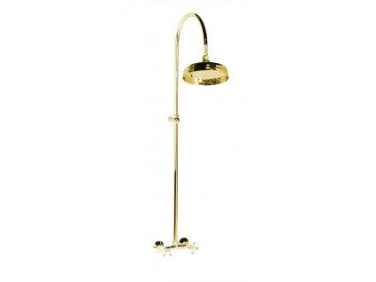 ANTEA sprchový sloup k napojení na baterii, hlavová sprcha, zlato SET015