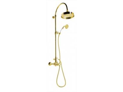 ANTEA sprchový sloup s termostatickou baterií, zlato SET045